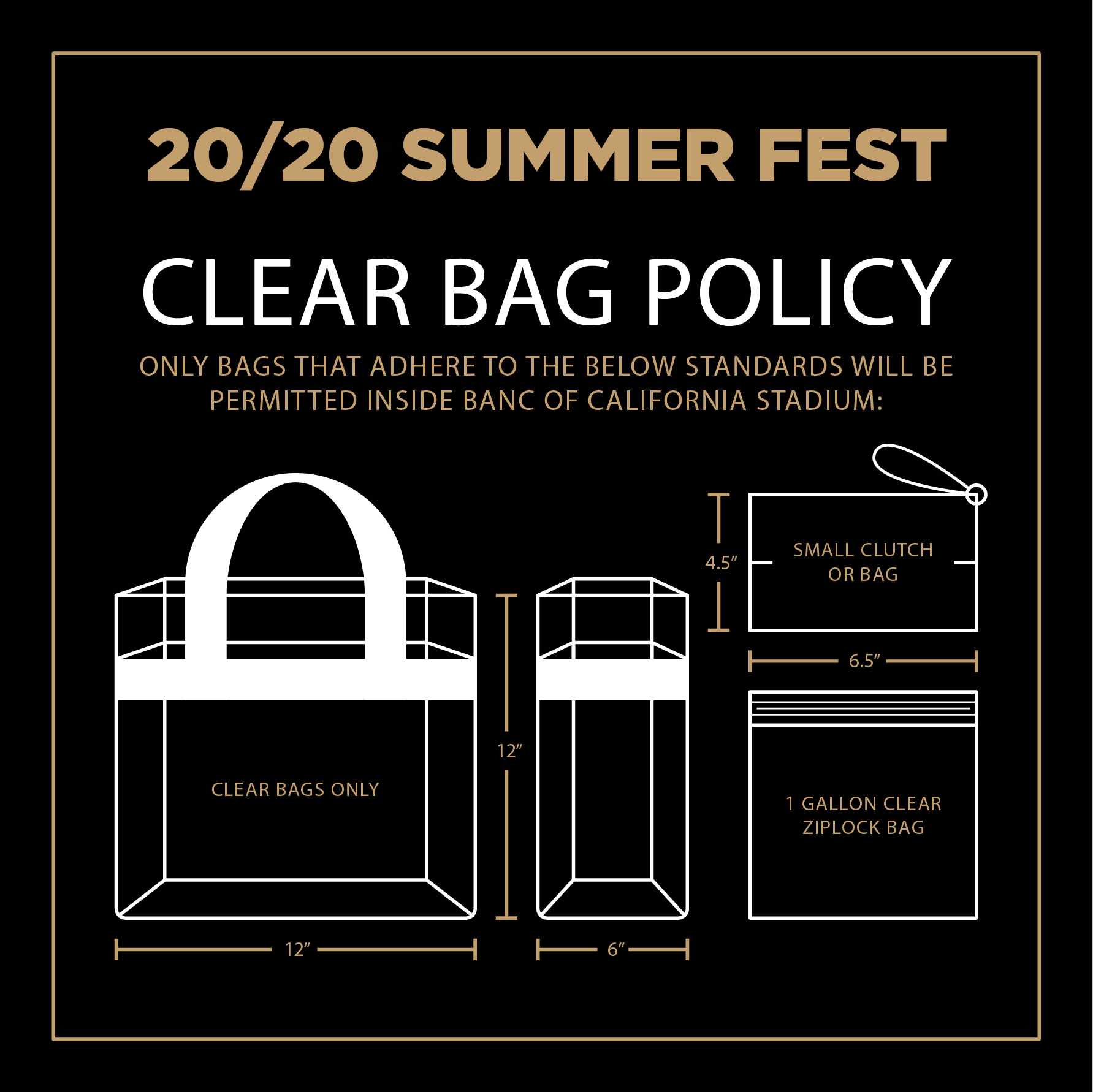 20/20 Summer Fest Clear Bag Policy